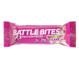 Battle Bites Birthday Cake Protein Bar (12 x 62g)