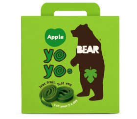 Bear Multi-Pack Apple Fruit Yo Yos (6 x 5 x 20g)