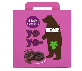 Bear Multi-Pack Blackcurrant Fruit Yo Yos (6 x 5 x 20g)
