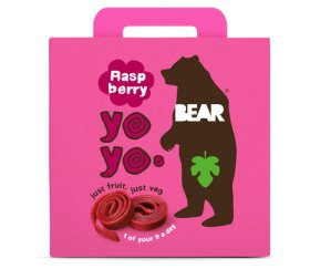 Bear Multi-Pack Raspberry Fruit Yo Yos (6 x 5 x 20g)