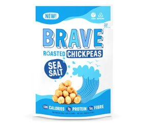 Brave Superfood Roasted Chickpeas - Sea Salt 12 x 35g