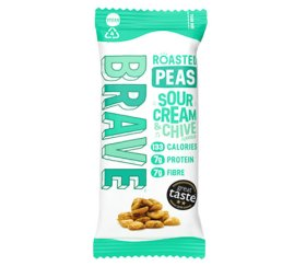 Brave Superfood Roasted Peas - Sour Cream & Chive 12 x 35g