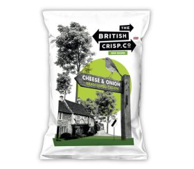British Crisp Co Handcooked Crisps - Cheese & Onion (26x40g)