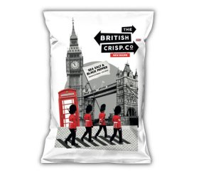 British Crisp Co Handcooked Crisps - Salt & Black Pepper (26x40g)