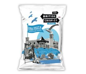 British Crisp Co Handcooked Crisps - Sea Salt & Vinegar (26x40g)