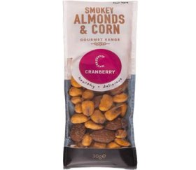 Cranberry Snack Shot Smokey Almonds & Corn (24 x 30g)