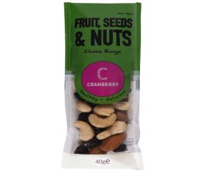 Cranberry Snack Shot Fruit, Nuts & Seeds (24 x 40g)