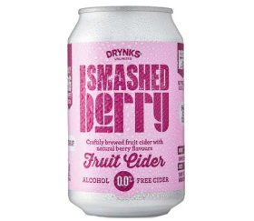 Drynks Unlimited - Smashed Alcohol Free Berry Cider (12 x 300ml)