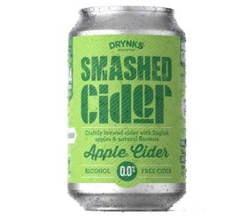 Drynks Unlimited - Smashed Alcohol Free Apple Cider (12 x 300ml)