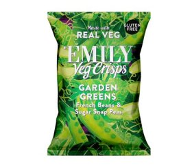 Emily Crisps - Spring Greens Vegetable Crisps (12 x 23g)