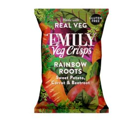 Emily Crisps - Sweet Potato, Carrot & Beetroot Vegetable Crisps (12 x 23g)