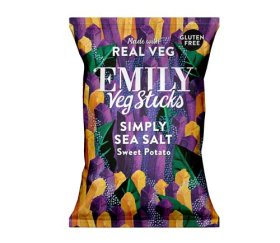 Emily Crisps - Sea Salt Sweet Potato Sticks (12 x 35g)