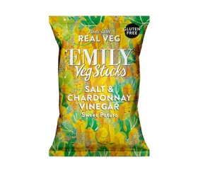 Emily Crisps - Salt & Chardonnay Vinegar Sweet Potato Sticks (12 x 35g)