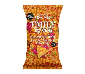 Emily Crisps - Chipotle BBQ Vegetable Thins (24 x 23g)