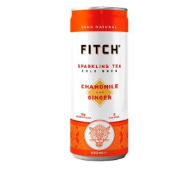 FITCH Sparkling Cold Brew Tea – Chamomile & Ginger (12x250ml)
