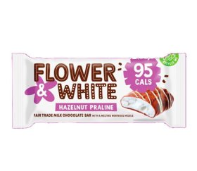 Flower & White Meringue Bar - Hazelnut Praline (12x20g)