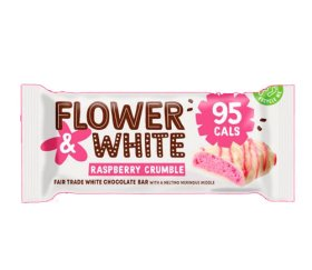 Flower & White Meringue Bar - Raspberry Crumble (12x20g)