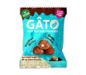 Gato - Hazelnut Butter & Dark Chocolate Cookies (10 x 33g)