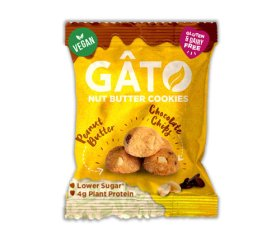 Gato - Peanut Butter & Chocolate Chip Cookies (10 x 33g)