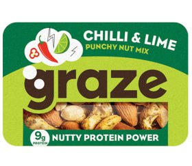 Graze - Punchy Chilli & Lime Protein Power (45g X 9 Trays)