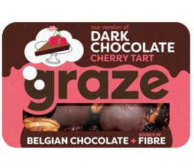 Graze - Dark Chocolate Cherry Tart (46g X 9 Trays)