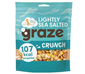 Graze Share Bags - Lightly Sea Salted Crunch (104g x 6 Bags)