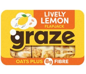 Graze - Lively Lemon Flapjack (53g X 9 Trays)