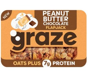 Graze - Peanut Butter Chocolate Flapjack (50g X 9 Trays)