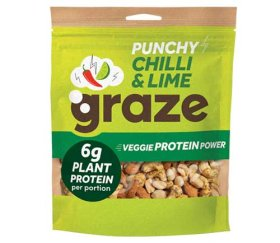 Graze Share Bags - Punchy Chilli & Lime Protein Power (118g X 6 Bags)