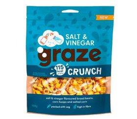 Graze Share Bags - Salt & Vinegar Crunch (6 x 104g)