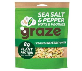 Graze Share Bags - Veggie Salt & Pepper Protein Power (128g X 6 Bags)
