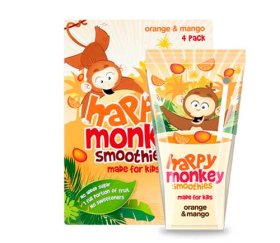 Happy Monkey - Orange & Mango Smoothies (6 x 4 x 180ml)