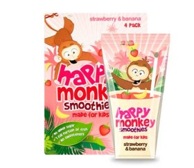 Happy Monkey - Strawberry & Banana Smoothies (6 x 4 x 180ml)