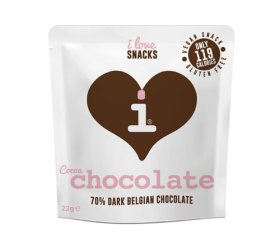 I Love Snacks - 70% Cocoa Dark Belgian Chocolate 15 x 22g