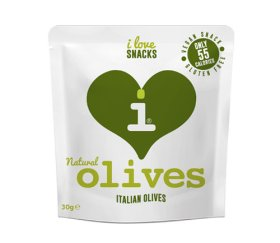 I Love Snacks - Natural Italian Olives 15 x 30g