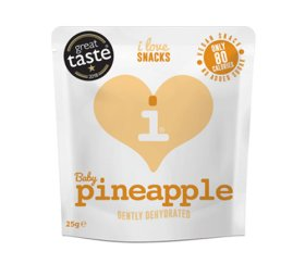 I Love Snacks - Gently Dehydrated Baby Pineapple 15 x 25g