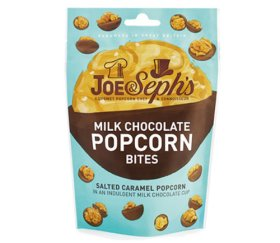 Joe & Sephs Salted Caramel Popcorn Bites - Milk Chocolate (7 x 63g)