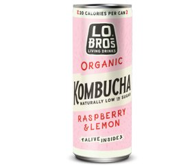 Lo Bros Organic Kombucha - Raspberry & Lemon 12 x 250ml