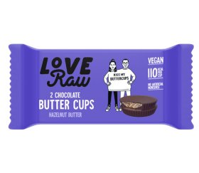 LoveRaw Vegan Chocolate Buttercups - Hazelnut 18 x 34g