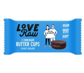 LoveRaw Vegan Chocolate Buttercups - Peanut Brownie 18 x 34g