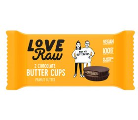 LoveRaw Vegan Chocolate Buttercups - Peanut Butter 18 x 34g