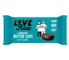 LoveRaw Vegan Chocolate Buttercups - Salted Caramel 18 x 34g