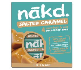 Nakd Salted Caramel Bar Multi-Pack (4 x 35g) x 12