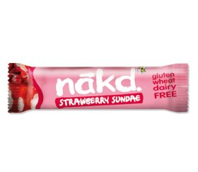 Nakd Stawberry Sundae Bar (18 x 35g Bars)