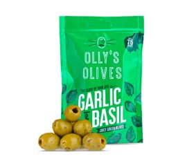 Olly's Olives - Garlic & Basil (12 x 50g)