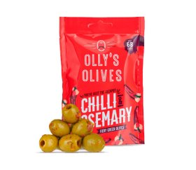 Olly's Olives - Chilli & Rosemary (12 x 50g)