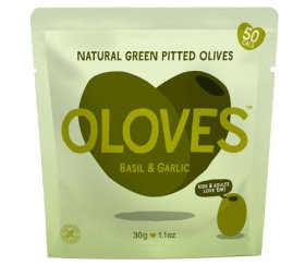 Oloves - Basil & Garlic (Shelf Ready 10 x 30g)