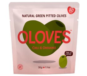 Oloves - Chilli & Oregano Olives (Shelf Ready 10 x 30g)