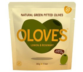Oloves - Lemon & Rosemary Olives (Shelf Ready 10 x 30g)