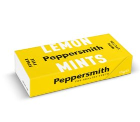 Peppersmith Xylitol Lemon Mints 12 x 15g